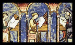 Medieval-monks-reading