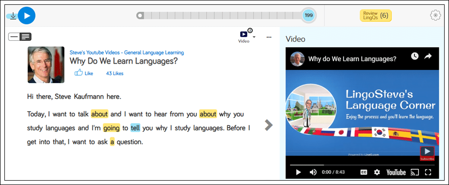 Why do we learn languages transcript